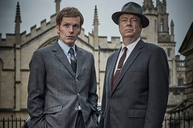 Shaun Evans as Endeavour Morse and Roger Allam as Fred Thursday in Endeavour (ITV, HF)