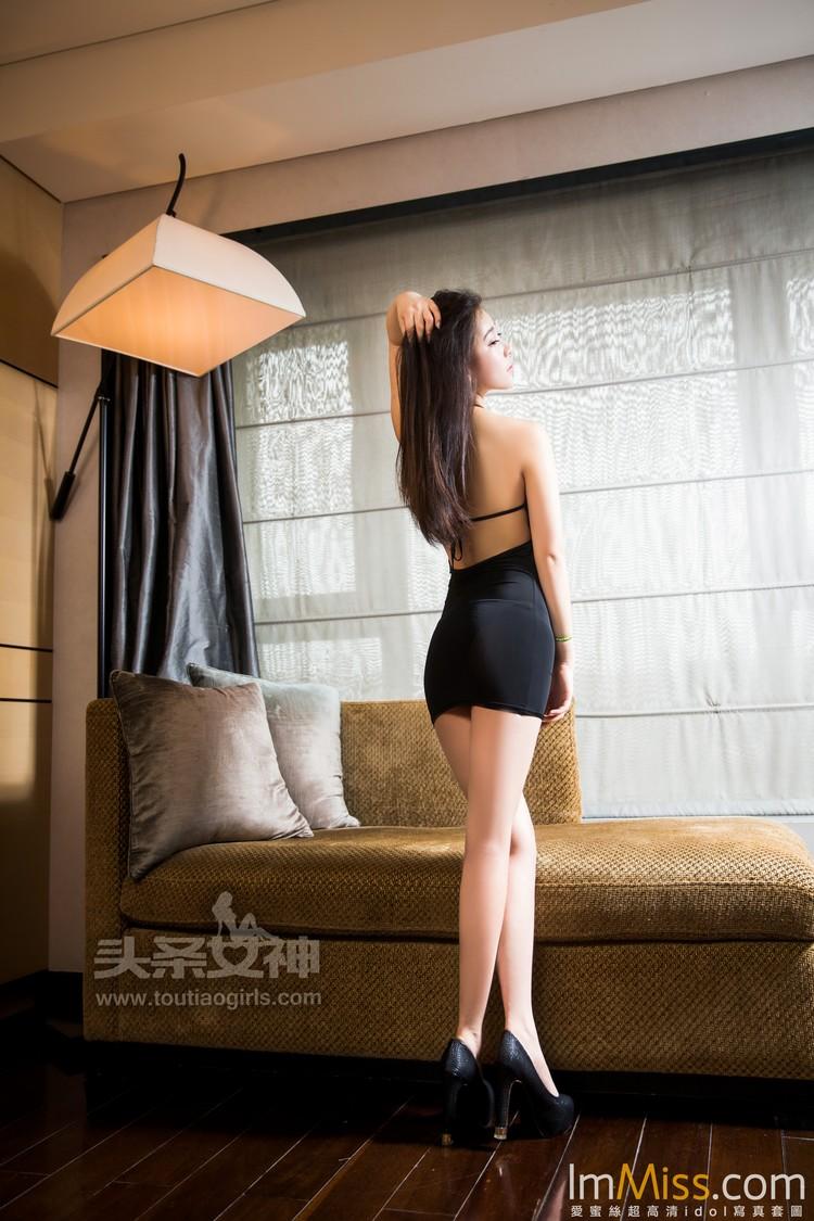 [TouTiao头条女神] 2017.07.08 萌媚黑裙 小梦 [37+1P]