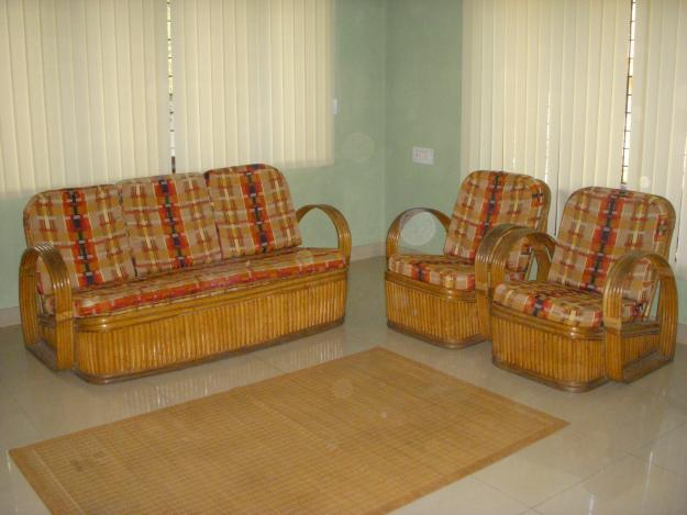 Shop from wide collection of sofas, dining table, beds, recliners, wardrobes and more. cane sofa set with cushion and two variety of cushion ...