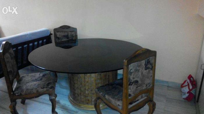 revolving chair vadodara log rocking glass dining table with 4 6 chairs for sale in