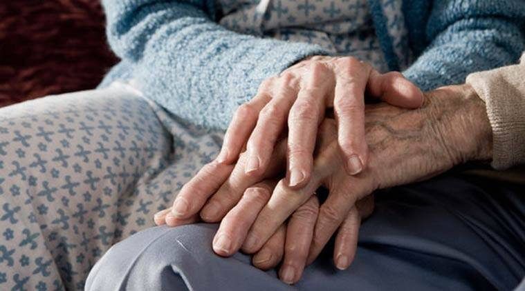 Image result for old man and woman holding hands