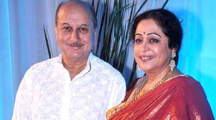 Image result for kirron and anupam kher