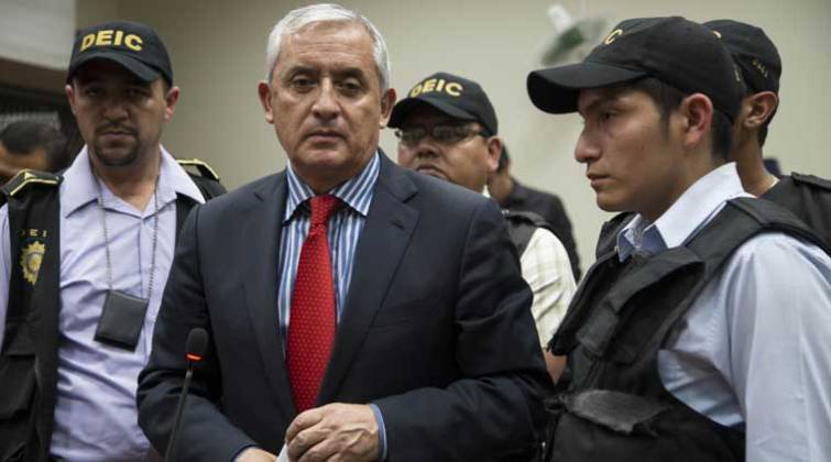 Image result for Ex-Guatemalan president fronts Court in graft probe