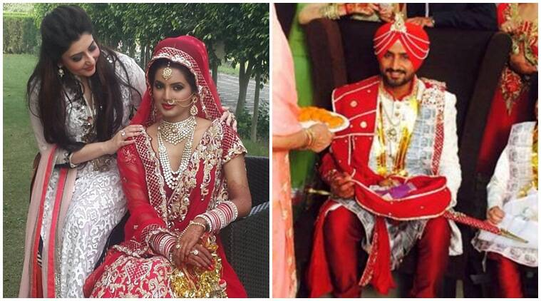 Harbhajan Singh, Harbhajan wedding, harbhajan singh marriage, harbhajan singh wedding, geeta basra, geeta basra wedding, geeta basra harbhajan singh, geeta basra images, cricket photos, wedding images, cricket news, cricket