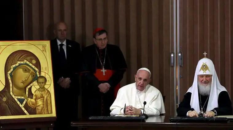 pope francis, patriarch kirill, pope kirill meeting, catholic orthodox meeting, christianity, pope francis news, pope patriarch kirill meeting, pope kirill meeting, catholicism, orthodox christianity, pope in mexico, pope francis mexico