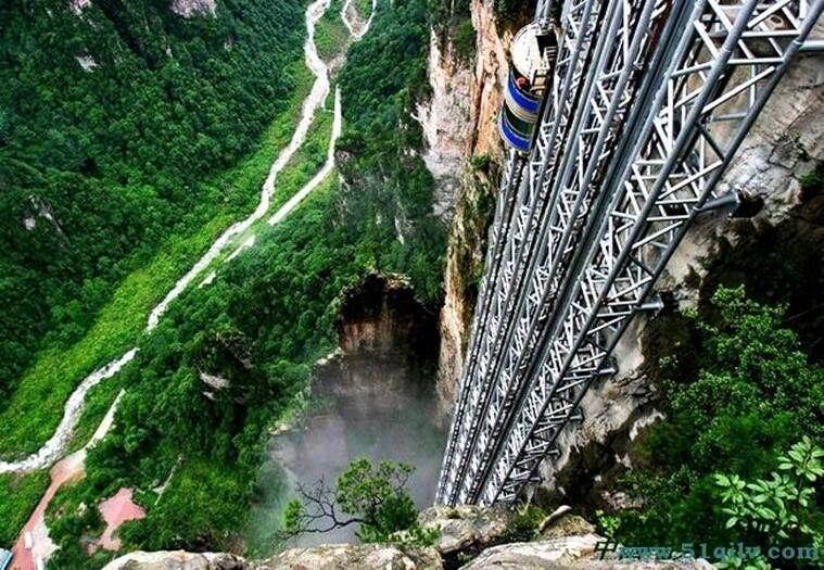 Would you dare go up in the worlds tallest lift Its 1