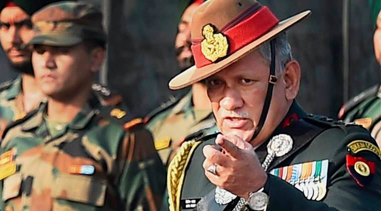 Image result for indian army chief general rawat -- pics
