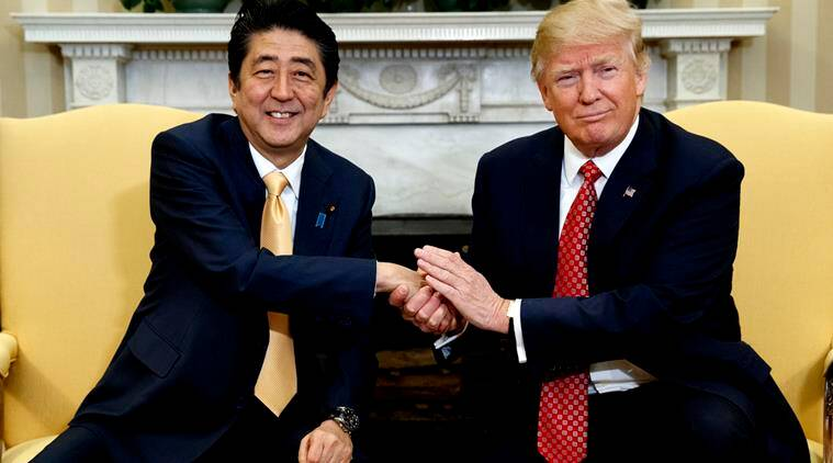 Image result for trump and abe japan