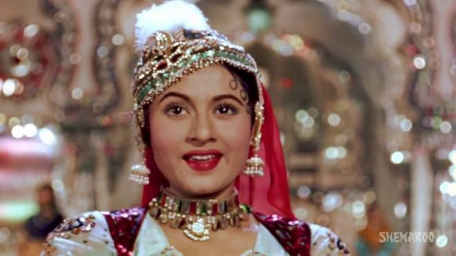 Madhubala as Anarkali in Mughal-e-Azam