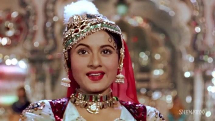 Madhubala as Anarkali in Mughal-e-Azam