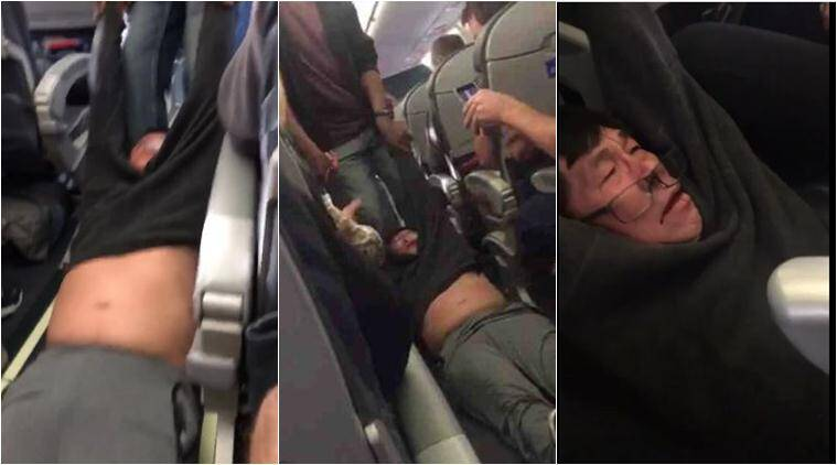 Image result for photos of man being dragged off plane