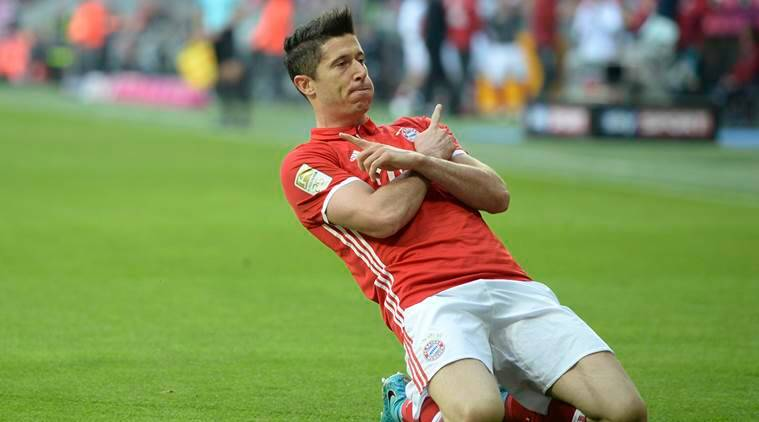 Image result for robert lewandowski bayern champions league