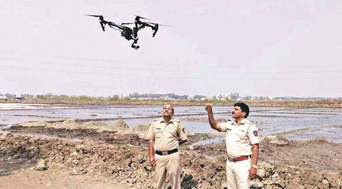 Indian Police using drones