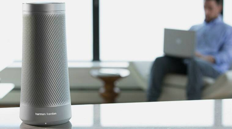 Harman Kardon Invoke, Microsoft Invoke, Microsoft Invoke smart speaker, Invoke voice controlled speaker, Cortana Invoke, Amazon Echo, Google Home, Apple siri speaker, technology, technology news