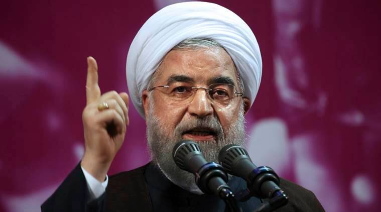 Iranian President Hassan Rouhani took aim at America and issued an oil warning.
