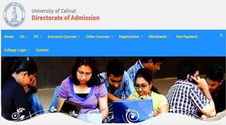 calicut university, cuonline.ac.in, cuonline, Ugcap.Uoc.Ac.In