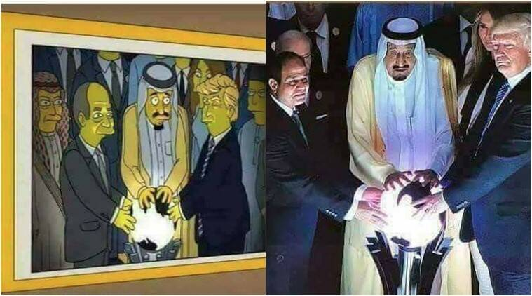 Trump Saudi Crystal Ball