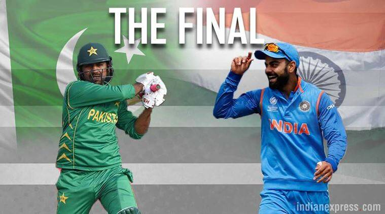 Image result for india pakistan cricket finals 2017
