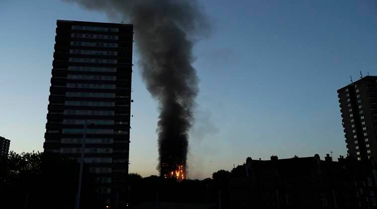 Image result for london tower fire photo