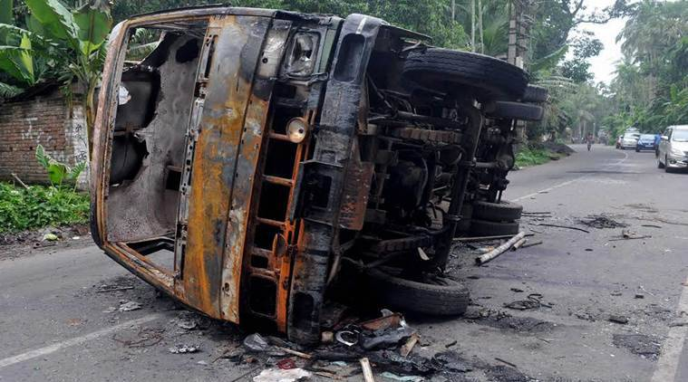 Centre writes to West Bengal, Union Home Ministry, North-24 Parganas, communal violence at Baduria and Basirhat, tension in Basirhat, Kolkata News, Indian Express News
