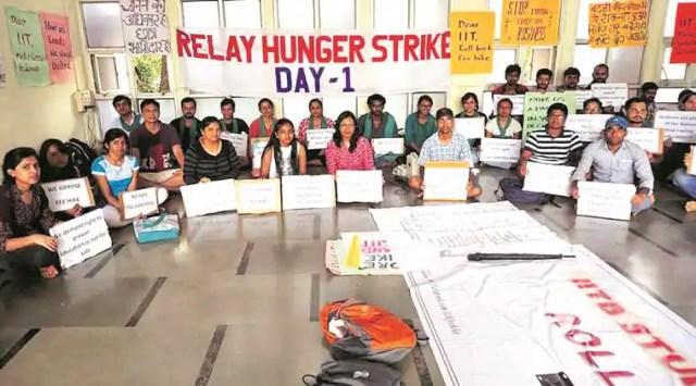 IIT-Bombay, IIT bombay fee hike, IIT bombay students, IIT-B protests, iit b fee hike protest,
