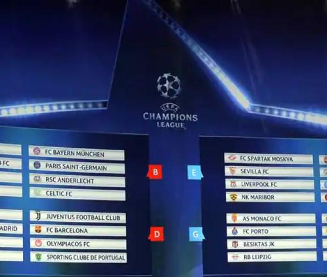 Champions League 2017 18 Champions League Champions League Draw Champions League Fixtures