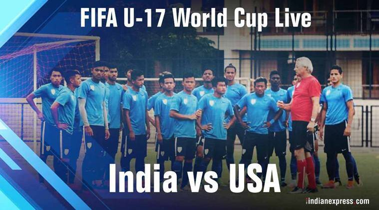 India vs USA football match LIVE SCORE and updates, FIFA Under 17 World Cup 2017: USA take 1-0 lead against India