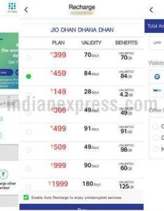 Reliance jiojio new rs plan jio  plans prepaid also is better than even the month rh indianexpress