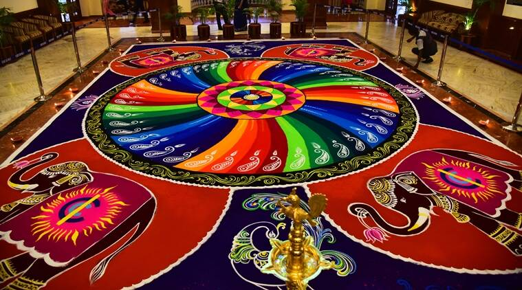 The indian express also rangoli designs latest diwali images rh indianexpress