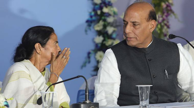 Rajnath Singh, Rohingya refugees, India Bangladesh border, Security grid, Mamata Banerjee, Rajnath Singh in West Bengal, five state border bangladesh, indian express