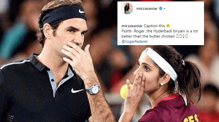 Sania Mirza posts photo with Roger Federer, invites fans for a fun 'let's play the caption game'