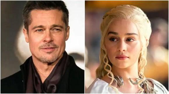 Brad Pitt bid 1,20,000 dollars to watch Game of Thrones with EmiliaClarke