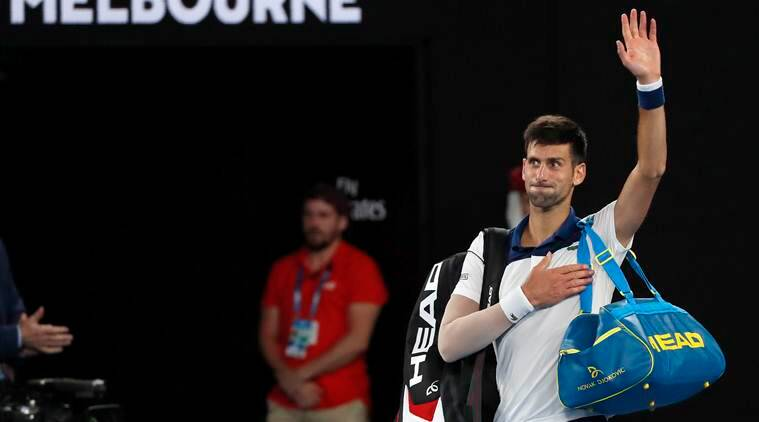 Novak Djokovic said he would have to reassess the way forward for his injured elbow after it flared up again during his shock defeat by Chung Hyeon