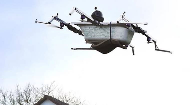 VIDEO Have You Seen A FLYING Bathtub Go Food Shopping In This DRONE The Indian Express