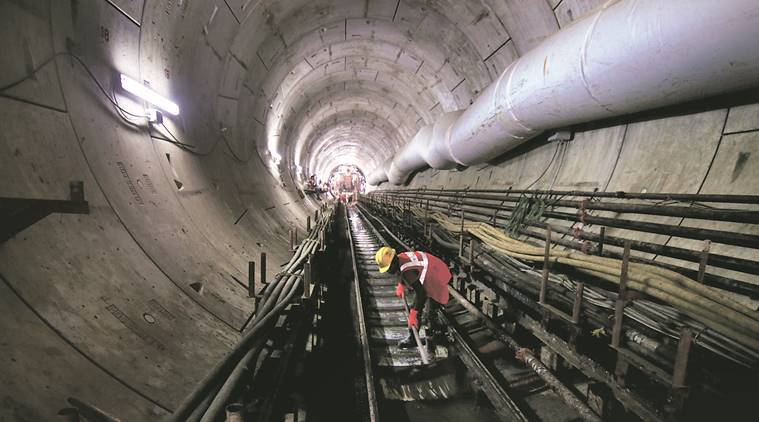 Micro tunneling on railway station