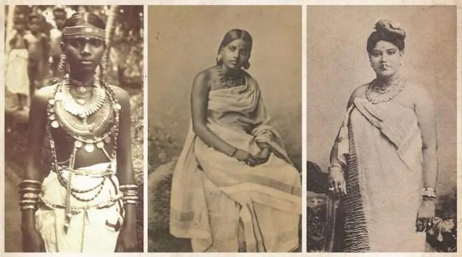 women wearing saree in kerala