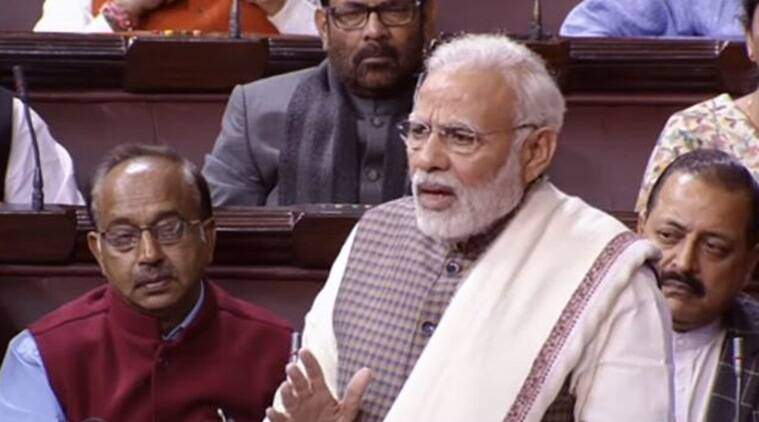 narendra modi, modi Rajya sabha speech, modi Rajya sabha address, modi in parliament, parliament session, narendra modi speech, bjp, congress, indian express