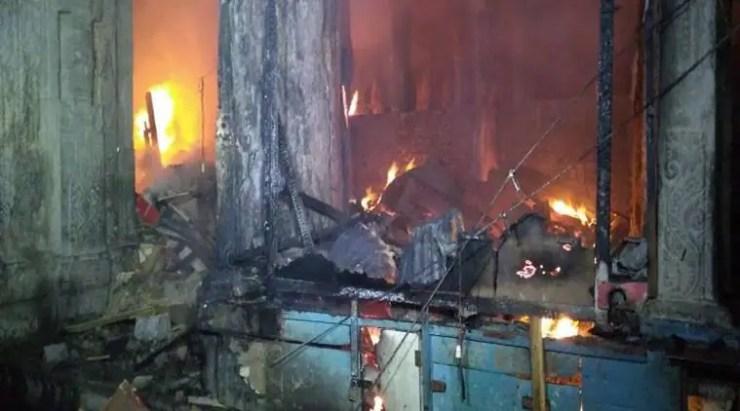 Meenakshi Temple fire in Madurai