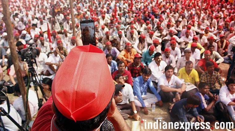 farmer's march, kisan march, Azad Maidan, agrarian crisis, sitaram yechury, farmer distress, india news, indian express