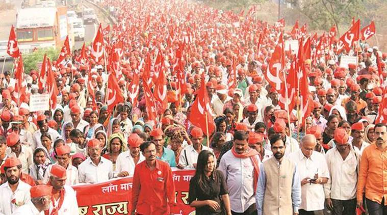 Image result for farmers' long march in maharashtra images