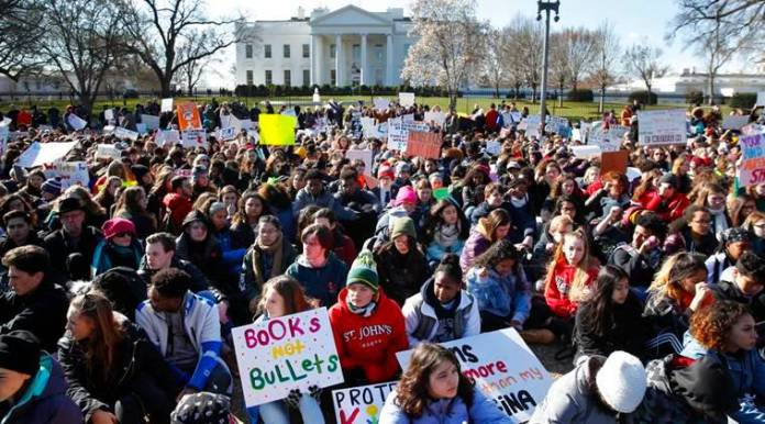 'We want change,' say U.S. students in nationwide walkout