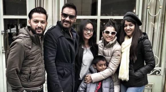 Ajay Devgn rings in 49th birthday with Kajol and kids in Paris