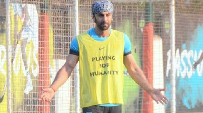 ranbir kapoor plays football for a cause