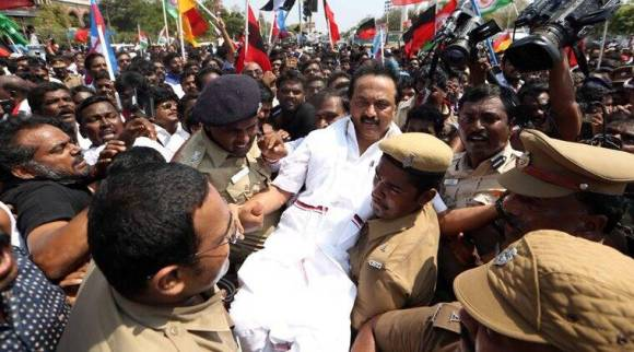 Tamil Nadu bandh LIVE UPDATES: Stalin leads march for Cauvery board