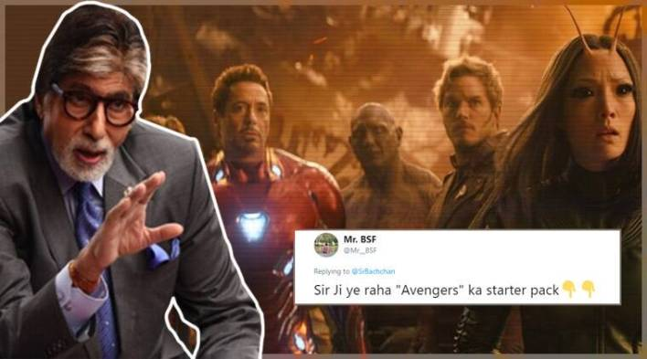 Avengers: Infinity War leaves Amitabh Bachchan clueless, Twitterati list out the Marvel starter pack