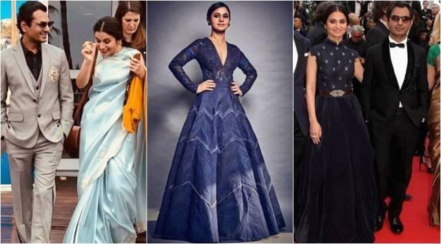 Cannes 2018: Manto actor Nawazuddin Siddiqui looks smart in Manish Malhotra outfits; Rasika keeps it elegant in sari and voluminousgowns