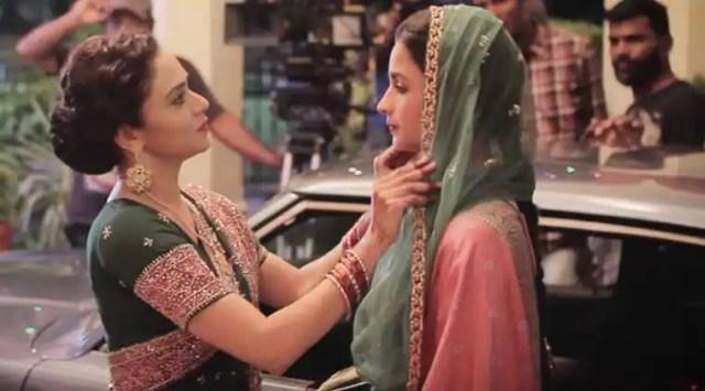 Amruta Khanvilkar and Alia Bhatt in Raazi