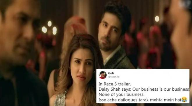 'Race 3' trailer: This crazy viral line can get an Oscar for 'the worst dialogue ever'