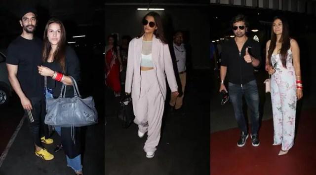 Newlyweds Neha Dhupia-Angad Bedi, Himesh Reshammiya-Sonia Kapoor and Sonam Kapoor are back in town