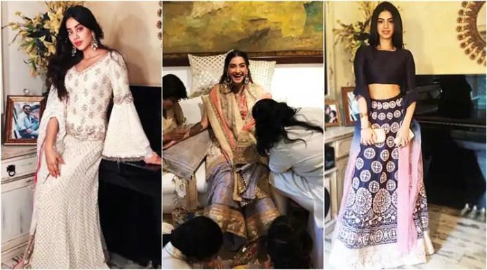 Sonam Kapoor-Anand Ahuja pre-wedding celebration: Here is what Janhvi, Khushi, Karan Johar and otherswore